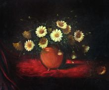 Yellow Flower Painting Decorative Painting Yellow Daisies in a Bowl by Martin Johnson Heade Painting Still Life High Quality