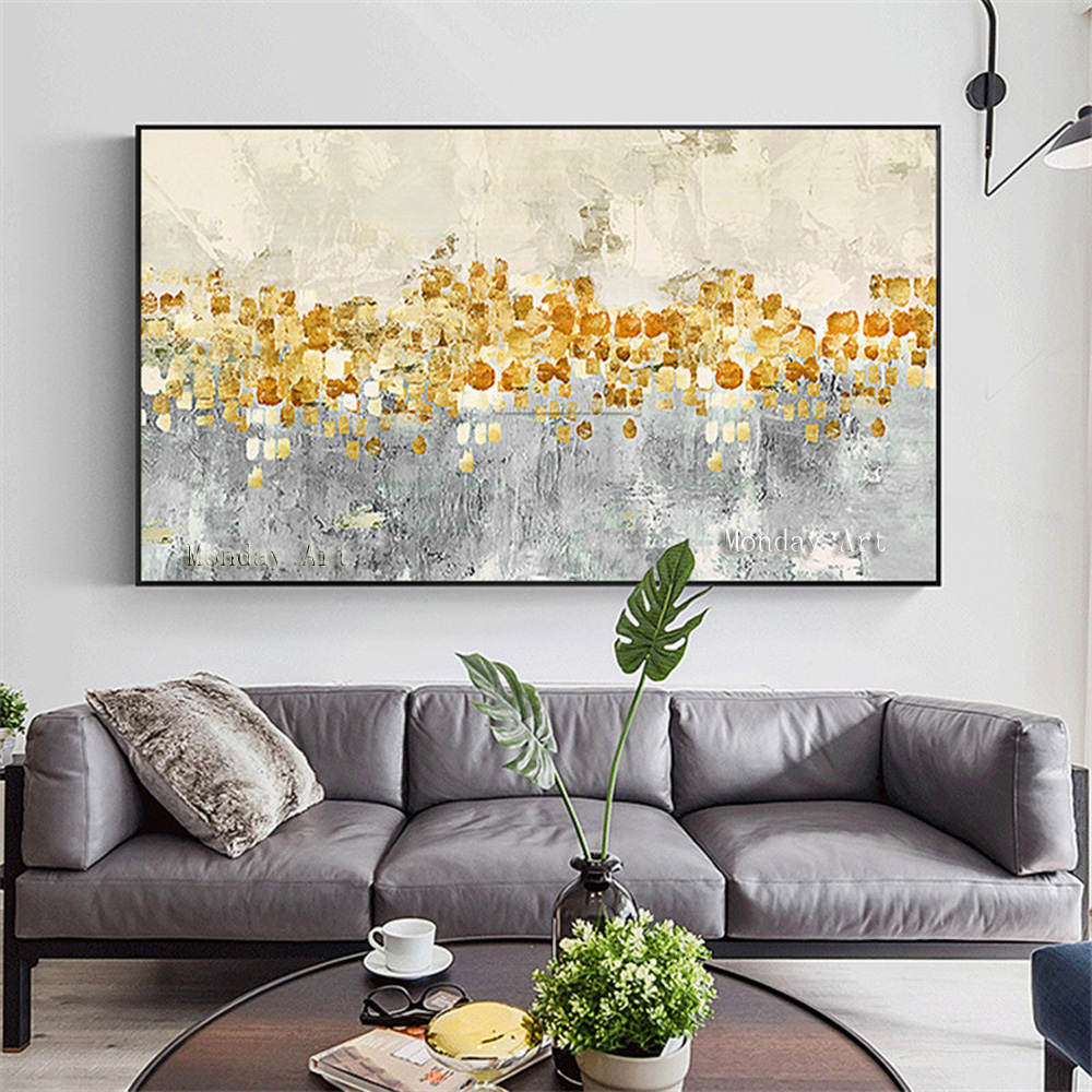 Canvas-painting-acrylic-gold-art-modern-abstract-painting-quadro-cuadros-decoracion-Wall-art-Pictures-for-living