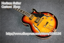 Free Shipping Jazz Electric Guitar Hollow Body ES 175 Guitarra Abalone Binding Chinese OEM Musical Instruments(China)