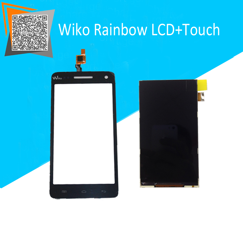 100% NEW Original for Wiko Rainbow Touch Screen + LCD Display Replacement Parts Free Tracking<br><br>Aliexpress