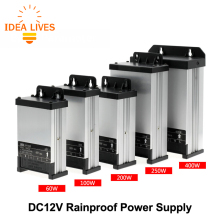 LED Outdoor Rainproof Power Supply DC12V 60W 100W 200W 250W 400W LED Driver Lighting Transformers(China)