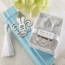 (DHL,UPS,Fedex)FREE SHIPPING+50pcs/Lot+Fleur-de-Lis Design Metal Bookmark For Book Wedding Party Gift Giveaway For Guest
