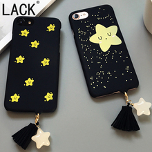 LACK Hot Sale Fashion Cute Stars Tassel Pendant Case For iphone7 Back Cover For iphone 7Plus 6 6S Smile Twinkle Stars Phone Case