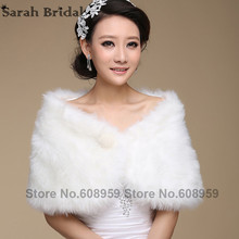 2017 In Stock New White Black Pearl Boleros Shrugs Bridal Jacket  Stole Capes Faux Fur Wedding Jackets Wraps 17004
