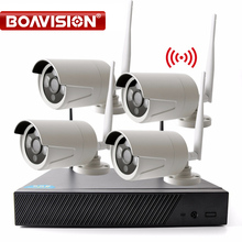 Plug and Play 4CH Wireless NVR Kit P2P 720P HD Outdoor IR Night Vision Security IP Camera WIFI CCTV Surveillance System XMEYE(China)