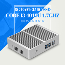 XCY Mini Computer Core I3 4010U 8G RAM 256G SSD WIFI Fanless PC Laptop Computer  Thin Client HDMI Mini pc