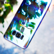 BASEUS for Galaxy S8 Phone Case S8+ Case Glaze Gradual Color Changing PC Mobile Casing for Samsung Galaxy S8 Plus G955 Cover Bag