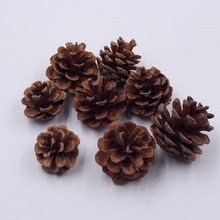 30pcs Pine Nuts Handmade Artificial Plant For Wedding Home Decoration DIY Handiwork Accessories fleurs Scrapbooking Pine Tower(China)