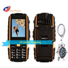 DTNO.I A9 4800mAh battery IP67 Waterproof shockproof phone Russian keyboard Dual SIM Card cell phones With Compass key chain