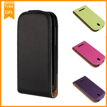 2014 New Vertical Genuine Leather case For HTC Desire SV T326E Phone case Magnetic Cover Pouch Black Free Shipping+Gift