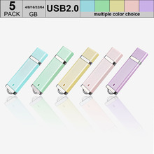 5pcs/lot Portable Mini USB 2.0 Flash Drive 64GB Pendrive 32GB 16GB 8GB Memory Stick Flash Disk Pen Drive Thumbdrive Clefs USB