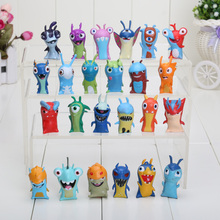 24pcs/set 4-5cm Cute Cartoon Slugterra PVC Action Figures Toys