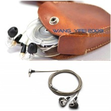 Genuine Leather Hard Case Bag For Beyerdynamic AK T8iE & MK II In Ear Headphone Earbud Earphone