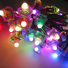 50pcs 12mm WS2811 Square Full Color Diffused Digital RGB Led Pixel Module DC5V IP68 Waterproof Point Lights For Advertisement(China)