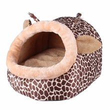 Chinchillas Squirrel Nest Soft Warm Dog House Small Animals Pet Bed Leopard Cats Puppy Kennel for Guinea Pigs Hamster Bed Cage(China)