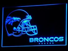 b318 Denver Broncos Helmet Bar Pub NR LED Neon Sign with On/Off Switch 20+ Colors 5 Sizes to choose(China)