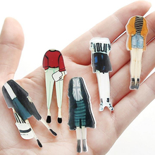 DoreenBeads 5cm Japanese Harajuku Style Acrylic Pin Brooch Safety Pins for Girl Woman Sweater Coat Shirt Collar Scarf Bag Decor(China)