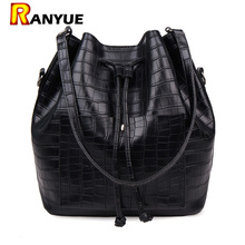 Buy Crocodile Drawstring Bucket Bag PU Leather Women Messenger Bags Shoulder Bag Handbags Luxury Women Bags Designer Brand Famous for $18.35 in AliExpress store