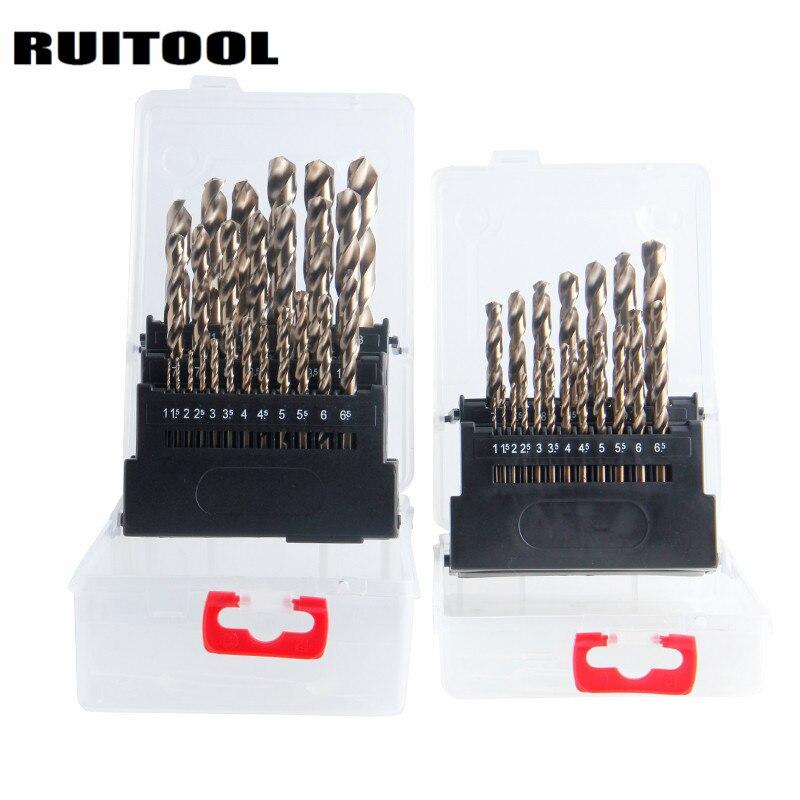 RUITOOL Cobalt Drill Bit Set Original M35 Twist Drill Bit Metal Cutter 1-10mm/1-13mm For Stainless Steel Wood Power Tools<br>