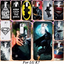 Silicone Plastic Phone Case For LG K7 LTE Tribute 5 LS675 Q7 LTE MS330 5.0'' K7 Dual SIM M1 Cover America Captain Batman Shell