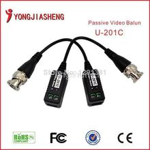 201c passive utp cctv video balun 1 CH for cctv camera with cat5 rj45 Male BNC connector Twisted Pair Transmitter