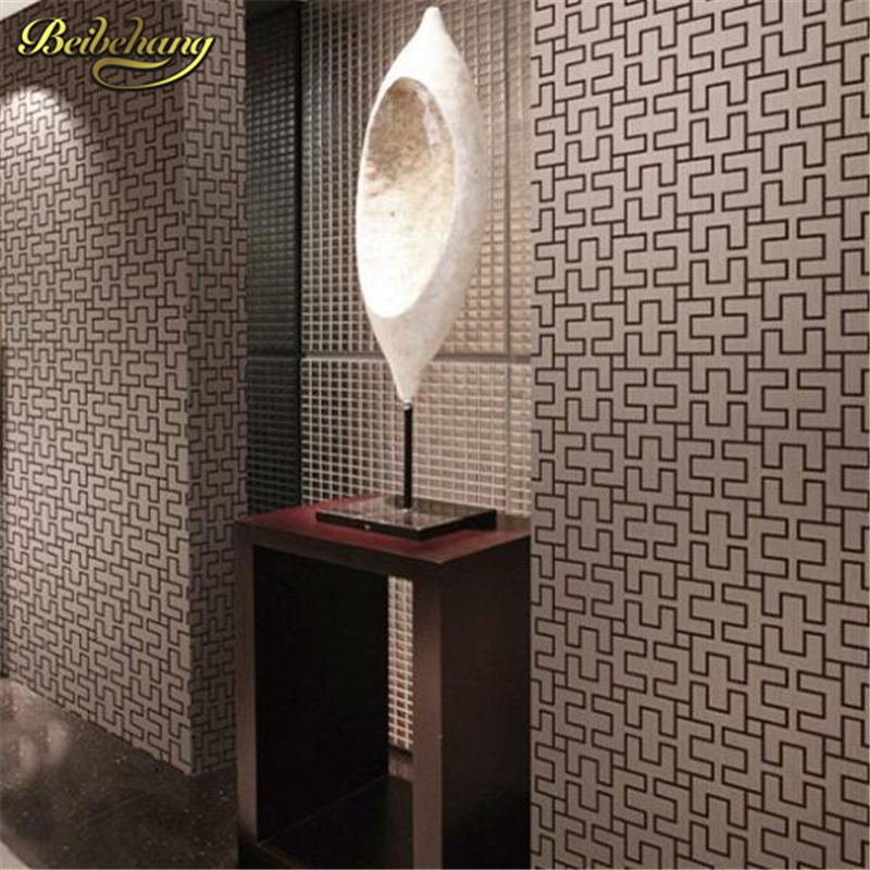 beibehang papel de parede. Vintage geometric modern wallpaper pvc embossed dining room brick background wall wallpaper for livin<br>