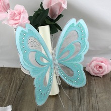 50Pcs Laser Cutting Hollow Invitation Card Wedding Party Royal Scroll Butterfly Birthday Invitations Customized Marriage Cards