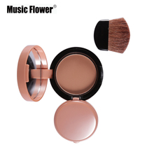 6 Colors Face Blusher Lovely Palette Makeup Blush Powder Professional Bronzer Red Cheek With Brush Kits By Brand Music Flower(China)