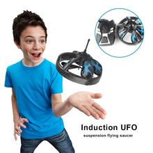 Hand Flying UFO Ball LED Mini Drone RC Quadcopte Flying Saucer Induction Suspension Aircraft Helicopter Flying Toys Toy For Kids(China)