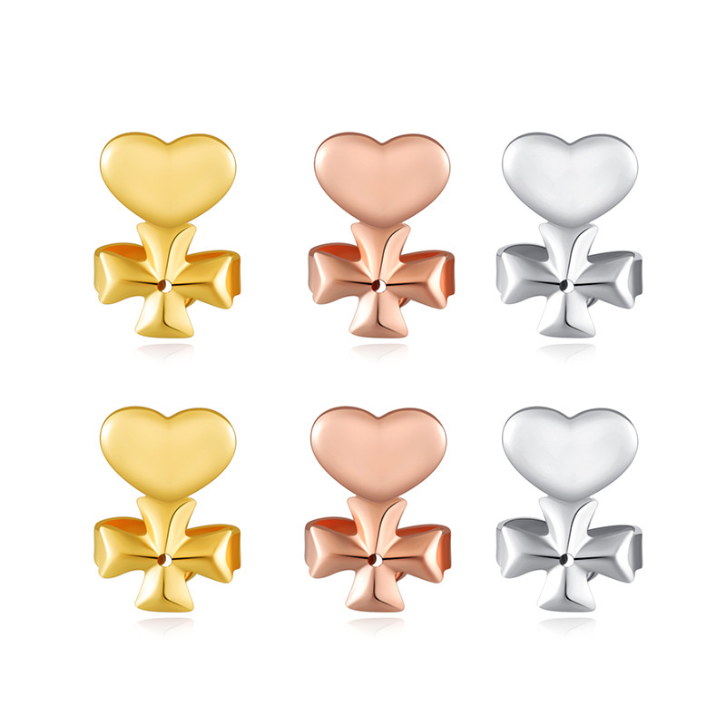 Ms Betti heart clover crown earring listers back set14