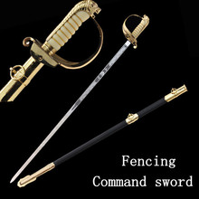 New Fashion Chinese honorary conductor sword stainless steel alloy fittings European military army command ceremony sword