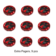 JingleBells 9 guest coaster pagers wireless paging system and wireless queueing system to page in 433.92MHz in vibration or ring(China)