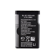 2X Phone Replacement 1020mah BL-5C Battery For Nokia 1112 1208 1600 1100 1101 n70 n71 n72 n91 e60 Direct shipping Wholesale(China)