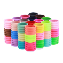 100pcs Elastic Hair Band Holders Rubber Bands Hair Accessories For Girl Women Headband Hair Ties Gum Headbands Headwear Haarband(China)