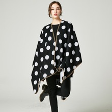 brand 2017 cashmere scarf women winter ponchos and capes knit thick warm blanket oversize female pashmina lady coat(China)