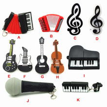 11 styles Musical Instruments Model USB flash drive microphone/piano/guitar Pen drive 4gb8gb16gb32gb flash memory stick u disk