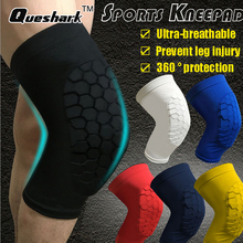 1Pc Honeycomb Basketball Knee pads Running Leg Sleeve Football Volleyball Soccer Ski Kneepad Calf Support Cycling Leg warmers