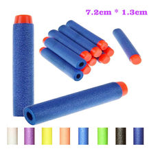 100pcs/set Soft Head 7.2 cm Refill Bullets EVA Darts for Series Blasters Magazine Kids Toy Gun Mega 10 Color(China)