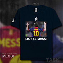 Fashion Barcelona MESSI fitness cotton T-Shirt Men T Shirt 2017 Summer Streetwear brand clothing footballer Lionel LEO Argentina(China)