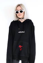Love Will Tear Us Apart Rose Hoodie Sweatshirt Black Tumblr Inspired Aesthetic Pale Pastel Grunge Aesthetics 2017 new(China)