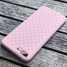 Colorful Soft TPU Phone Case for Apple iPhone 7 8 Retro Weave Designed Smooth Touch Sleeve Phone Cover for i8 i7 Case Shell 4.7""