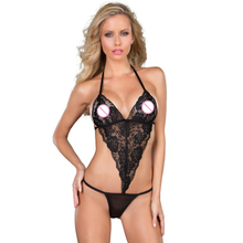 Women Plus Size Sexy Lingerie Teddies Lace Ladies Teddy Sleepwear Intimates Backless M XL Red Black Purple Free Shipping