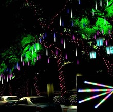 50cm SMD LED Meteor Shower Rain Tube Light Garland 1 set 8 tubes Waterproof Tree Road Decoration Wedding lamps Luces Decorativas