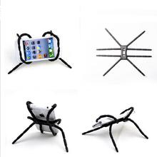 Universal Spider Mobile Phone Holder For Iphone 6 S 7 Plus Stent For Samsung S6 Edge Car Holder Stand Support Cell Phone Holder(China)