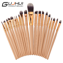 2017 A# Best Deal New 20PCS Make Up Foundation Eyebrow Eyeliner Eye Shadow Blush Cosmetic Concealer Brushes Beauty Tools(China)
