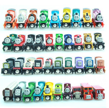 Thomas and His Friends -10PCS/LOT Anime Wooden Trains Toy Railway Magnetic Train Model Car Great Kids Toys for Children Gifts(China)