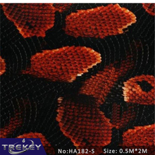 0.5M*2M Red Snake Water Transfer Printing Film HA182-S, Hydrographic film,Pva Water Soluble Film Hidrografik(China)