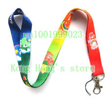 Small Wholesale New 10pcs Rainbow Bear Lanyard/ MP3/4 cell phone/ keychains /Neck Strap Lanyard free shipping C-28(China)
