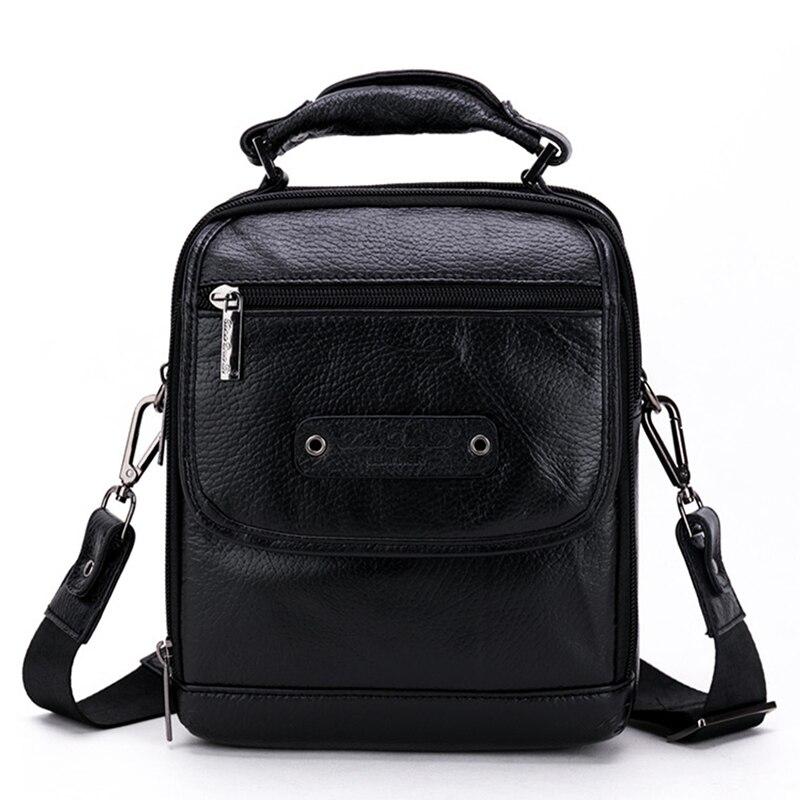 New Arrival Men Genuine Leather Business Tote Handbag Natural Skin Cowhide Crossbody Shoulder Bag Male Travel Messenger Bags<br>