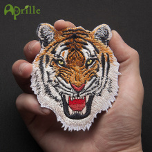 Tiger lion animal embroidery patch for military biker stripes clothes accessories iron on clothing embroidered applique stickers(China)